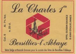 """Etiquette De Bière """"La Charles 1er"""" Neuve. - Bière"""