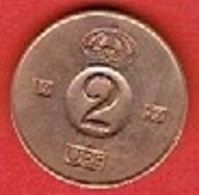 SWEDEN #  2 ØRE FROM 1959 - Suède