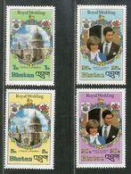 Bhutan 1981 Royal Wedding Princess Diana & Charles Paul Church Sc 317-20 MNH # 1639 - Bhutan