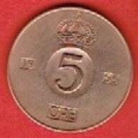 SWEDEN #  5 ØRE FROM 1953 - Suède
