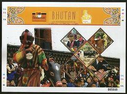 Bhutan 2008 Smithsorian Folklore Festival Culture Mask Sheetlet Sc 1433 MNH 1517 - Bhutan