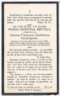Dp. Bertels Maria. Echtg. Vandingenen Joannes. ° Ten-Aert-Gheel 1898 † Ten-Aert-Gheel 1930 - Religion & Esotérisme