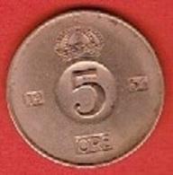 SWEDEN #  5 ØRE FROM 1954 - Suède