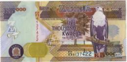 Zambia 5000 Kwacha (P45d) 2008 Sign 12 -UNC- - Zambie