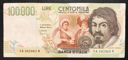 100000 Lire CARAVAGGIO 2° TIPO SERIE A 1994  LOTTO 2226 - [ 2] 1946-… : Républic