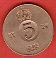 SWEDEN #  5 ØRE FROM 1962 - Suède