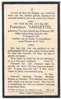 Dp. Vangestel Franciscus. ° Ten-Aert-Gheel 1892 † Ten-Aert-Gheel 1930 - Religion & Esotérisme