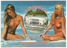 14  Villerville Sur Mer - Restaurant De La Plage - Femmes Seins Nus - Villerville