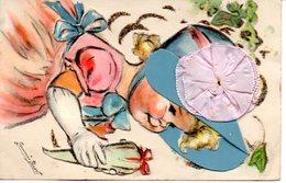 Germaine Bouret : Carte Avec Découpis - Bouret, Germaine
