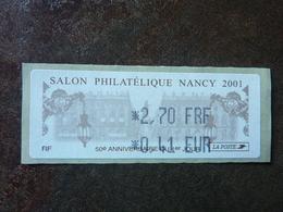 2001 LISA1 Salon Philatélique De Nancy 0,41€  ** MNH - 1999-2009 Vignettes Illustrées