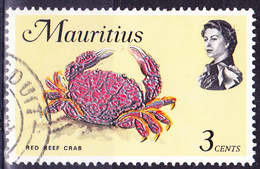 Mauritius - Rote Riffkrabbe (Zoozymus Aeneus) (Mi.Nr.: 332) 1969 - Gest. Used Obl. - Maurice (1968-...)