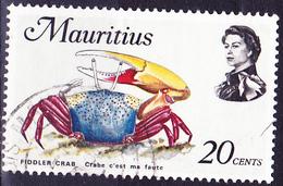 Mauritius - Winkerkrabbe (Uca Sp.) (Mi.Nr.: 337) 1969 - Gest. Used Obl. - Maurice (1968-...)