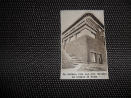 "Origineel Knipsel ( 1903 ) Uit Tijdschrift "" Ons Land ""  1933  : Knocke  Villa Van H.H. Saverys En Colman ( De Bodt ) - Old Paper"