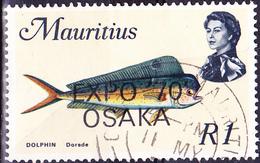 Mauritius - Goldmakrele (Coryphaena Hippurus) EXPO Osaka (Mi.Nr.: 361) 1970 - Gest. Used Obl. - Maurice (1968-...)