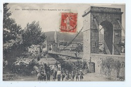 Cpa -   Dpt  -  Gard -  - La Grand Combe  - - Pont Suspendu Sur Le Gardon  -   - Animation (  Selection  )  Rare -1912 - - La Grand-Combe