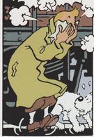 """TINTIN ( Carte 2 Volets ) """"Au Pays De L'or Noir """" - Comics"""