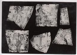 Catacombe Di S. Callisto Simboli, St. Callistus Catacombs Symbols, Unused Real Photo Postcard [22745] - Expositions