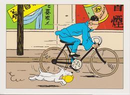 "TINTIN ( Carte 2 Volets ) "" Le Lotus Bleu  "" - Comics"