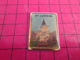 712e Pin's Pins / Beau Et Rare / THEME VILLES : JURA ST LUPICIN EGLISE - Cities