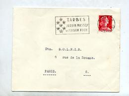 Lettre Flamme Tarbes Massey Foch - Postmark Collection (Covers)