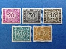 ITALIA FRANCOBOLLI NUOVI STAMPS NEW MNH** SEGNATASSE LOTTO DA 5 FILIGRANA STELLE - - 6. 1946-.. Repubblica