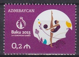 2015 AZERBAÏDJAN Azerbaijan Baku Europa ** MNH Gymnastique Barre Gymnastics Gymnastics Horizontal Bar Gymnastik T [cp03] - Gymnastique
