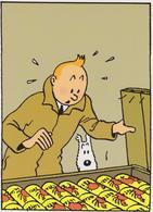 """TINTIN ( Carte 2 Volets ) """" Le Crabe Aux Pinces D'or  """" - Comics"""