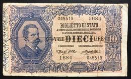 10 LIRE VITTORIO EM. III°  Dell'ara Righetti 1914 Rara LOTTO 2303 - [ 1] …-1946 : Kingdom