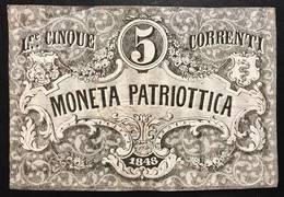 Venezia 5 Lire Moneta Patriottica 1848 Firma Barzilai  LOTTO 2327 - [ 4] Emissions Provisionelles