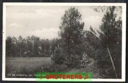 HUYBERGEN Omgeving Man Met Kruiwagen 1933 - Autres