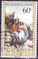 """Mauritius - """"Milchverkäufer"""" Von A. Richard (Mi.Nr.: 404) 1975 - Gest. Used Obl. - Maurice (1968-...)"""