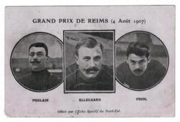 Grand Prix De Reims 4 Août 1907 Poulain Ellegaard Friol Offert Par L'Echo Sportif Du Nord-Est - Cyclisme