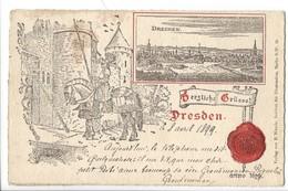 21353 - Dresden 1899 Herzliche Grüsse Dresden - Dresden