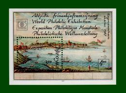 .1987 DK Faroer Block 3 Mi # 159 ** POSTFRISCH (Intern. Briefmarkenausst. HAFNIA '87, Kopenhagen)  (B31pf) - Faroe Islands