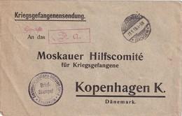 ALLEMAGNE 1918 LETTRE CENSUREE DE CAMP DE PRIISONNIERS D'OFFICIERS A BISCHOFSWERDA - Brieven En Documenten