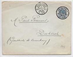 NEDERLAND - 1905 -  ENVELOPPE ENTIER De GRONINGEN => DIEKIRCH (LUXEMBOURG) - DESTINATION - Entiers Postaux