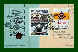 .1993 Finnland Aland Block Nr. 2 Mi.-Nr. 66 - 69 ** POSTFRISCH  (Eigene Posthoheit)   (B29pf) - Aland