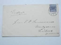 1898 , SHANGHAI , Klarer Stempel Auf 20 Pfg. Adler , Brief Nach Lübeck - Deutsche Post In China