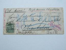 1901 , Brief Aus  Mainz Nach Kiautschou , Dort Mit Zahlreichen Durchgangsstempeln , Verschlussvignette Von Darmstadt - Deutsche Post In China