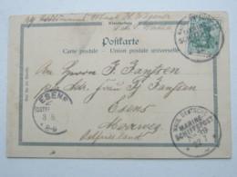 Kiautschou 1900 , Ansichtskarte Mit Marineschiffpoststempel Nr 39 - Kolonie: Kiautschou