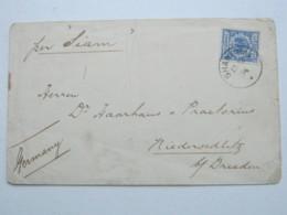 1894 , Shanghai , Klarer Stempel Auf  20 Pfg. Adler , Brief Nach Niedersedlitz - Deutsche Post In China