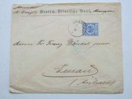 1894 , Shanghai , Klarer Stempel Auf  20 Pfg. Adler , Brief Nach Dessau - Deutsche Post In China