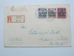 1906 , Shanghai , Klarer Stempel Auf  Einschreiben - Deutsche Post In China