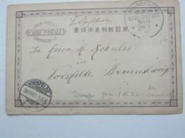 1900 , China , Boxeraufstand , Marineschiffpoststempel Auf Feldpostkarte - Deutsche Post In China