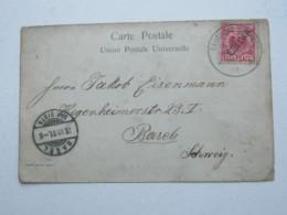 1901 , Deutsche Seepost Ost Asiatische Hauptlinie , Stempel Auf  China Marke Auf Ansichtskarte In Die Schweiz - Deutsche Post In China