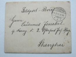 1901 , Feldpostbrief Aus Lüneburg Nach China Mit Inhalt - Deutsche Post In China
