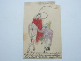 1901 , Feldpostkarte  Mit Handgemalter Botschaft , Eckfehler - Deutsche Post In China