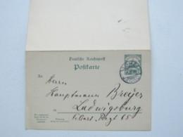 1910 , LOME , Klarer Stempel Auf Doppelganzsache , Rs. Viel Text - Kolonie: Togo