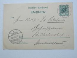1901 , LOME , Klarer Stempel Auf Ganzsache , Rs. Viel Text - Kolonie: Togo