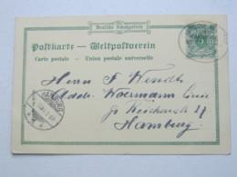 1899 , Deutsche Seepost Hamburg Westafrika , Klarer Stempel Auf Colorkarte Aus Togo - Kolonie: Togo
